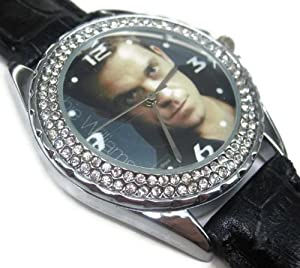 New Fashion WS170 New Leather Crystal Watch / Take That Robbie Williams 3