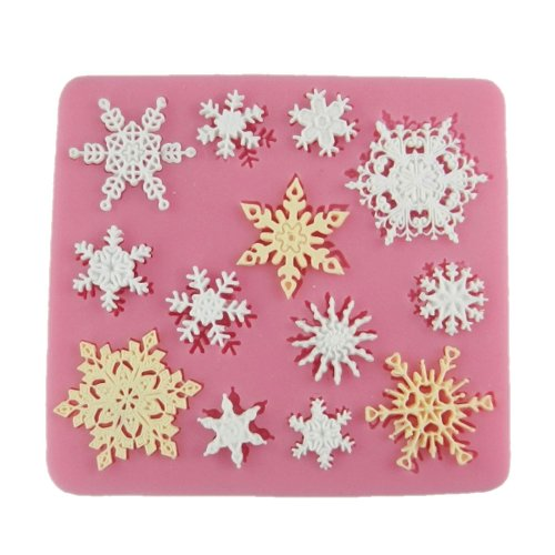 Lowest Prices! Yunko 3d Snowflake Silicone Mould Fondant Silicone Sugar Mini Mold Craft Molds DIY Ca...