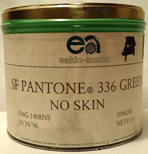 Offset Printing Press Ink, 5 lbs. (Eakin Austin 5#, SF PANTONE (No Skin) 336 GREEN) (Offset Printing Press compare prices)