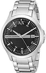 Armani Exchange Men's AX2103 Analog Display Analog Quartz Silver Watch