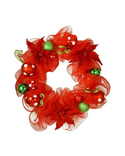 "National Tree Company 30"" Decorative Collection Red Ribbon Wreath"