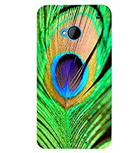 Printvisa Peacock Feather Pattern Back Case Cover for HTC One M7::HTC M7