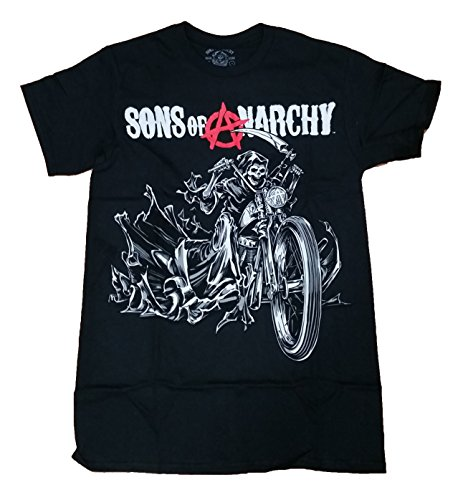 Sons of Anarchy Reaper on a Motorcycle Graphic T-Shirt - Large