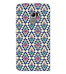 PrintDhaba Diamond Pattern D-5391 Back Case Cover for LENOVO K4 NOTE A7010 (Multi-Coloured)