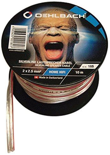 oehlbach-cavo-per-altoparlanti-2x250mm-20m-spool-colore-trasparente