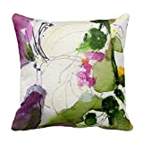 Goumyn 18 inch Decorative Pillow Case Abstract Watercolor Design Mix and Match Sides Flowers Pillowcase