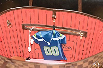 Seattle Fan 12 Reusable Grocery Bag with Jersey Style Storage Pouch