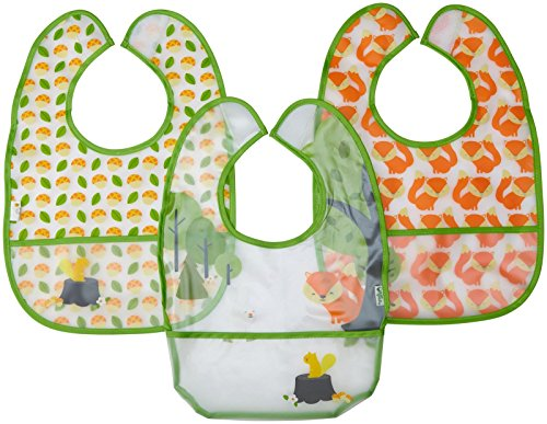 green sprouts Waterproof Forest Bib Assorted 9/18 months, 12 Count