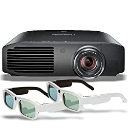 Panasonic PT-AE8000U Full HD 3D Home Theater Projector + 2 Pairs of Xpand 3D Glasses