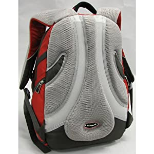 Time Traveller Laptop Backpack (red/charcoal)