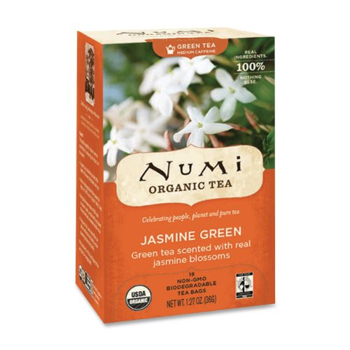 Numi Organic 10108 Organic Teas and Teasans 1 27 oz Jasmine Green 18 Box