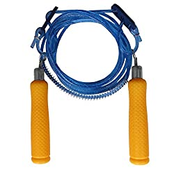 Kids special - Premium quality light weight jumping skipping rope with comfortable strong plastic grip with length adjuster.(Blue Spark)