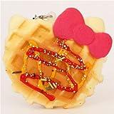 Hello Kitty waffle pink bow squishy charm