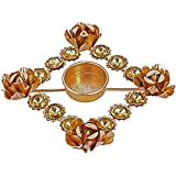 Indian Decorations Set Of 6 Diwali Diya Lights Candle Holder Floral Arrangements