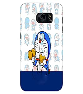 PrintDhaba Doremon D-4475 Back Case Cover for SAMSUNG GALAXY S7 (Multi-Coloured)