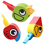 Tangda 2 Pcs Birds Whistle Wooden Toy...