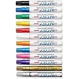 Sanford Uni-Paint Markers, Medium Point, Assorted, Dozen - 63631