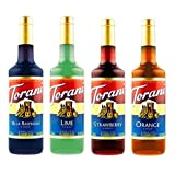 Torani Syrup Variety Pack, Soda Flavors, 4 Count (Tamaño: 4 Count)