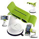 Black Friday Deals 2014 Universal Portable Dashboard/Windshield Car Mount Holder Stand Bracket Cradle for Samsung Galaxy S5 S4, Note 2 and Iphone 4s/5 Sony Xperia Z2 Z1 Lg G2 D802 HTC One X M8 M7 (Green)