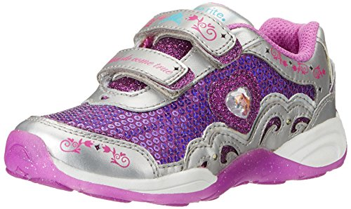 Stride Rite Disney Wish Lights Anna And Elsa H&L Lighted Sneaker (Infant/Toddler/Little Kid),Magenta/Silver,10 M Us Toddler front-40079