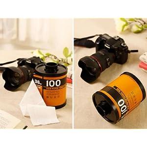 おもしろ カメラ 雑貨 パトローネ フィルム 風 トイレット ペーパー ホルダー (イエロー)