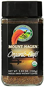Mount Hagen Organic Freeze Dried Coffee, 3.53 Ounce (Pack of 6)