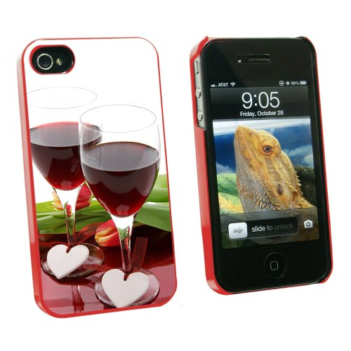 Hearts Wine Celebration Apple iPhone 4/4S Case