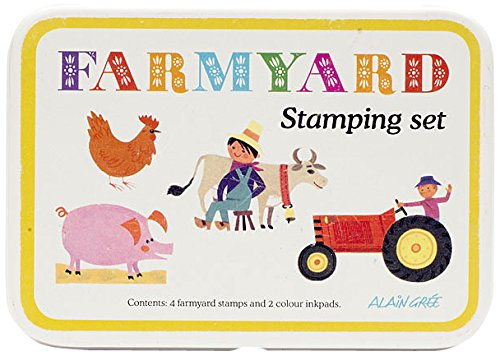 GNU Alain Gree Button Books Farmyard Stamp Set