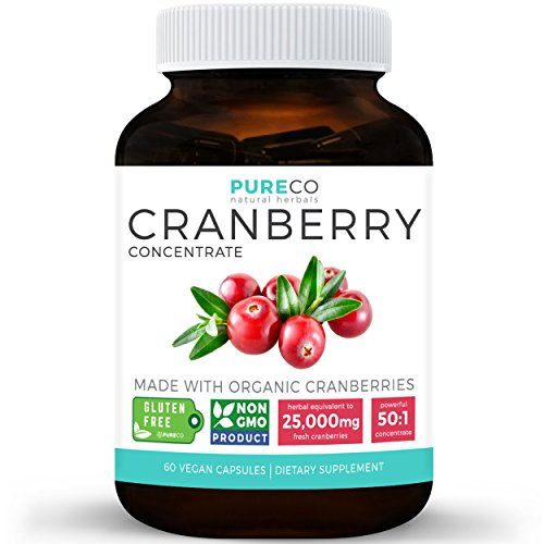 Organic-Cranberry-Concentrate-25000mg-of-Fresh-Cranberries-Equivalent-For-Kidney-Cleanse-Urinary-Tract-Health-Support-UTI-Fruit-Extract-Supplement-60-Vegan-Capsules-No-Pills