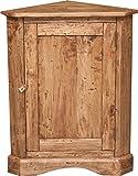 Angoliera Country in legno massello di tiglio finitura naturale 50x50x92 cm