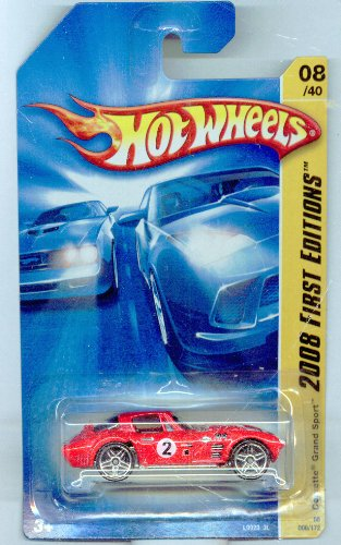 Hot Wheels 2008-008/172 First Editions 08/40 RED Corvette Grand Sport 1:64 Scale