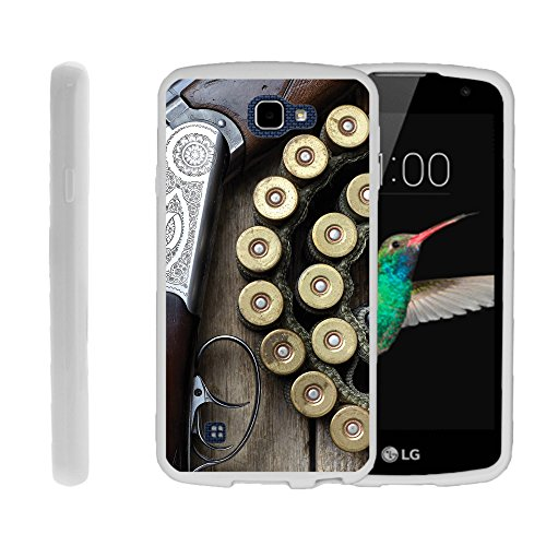 Case for LG Optimus Zone 3 | LG Spree | K4 , TPU Slim Fitted Shock Light Cover with Phone Case Hunting Collection | by Miniturtle® - Shotgun with Ammo