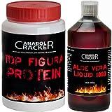 Aloe Vera Liquid 1000, Frischpflanzensaft 99,6 %, 1L Flasche, Entgiftung / Diät / Vitamine + 400g Top Figura Protein, Eiweißpulver