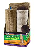 "Four Paws Super Catnip 21"" Carpet and Sisal Scratching Post Cat House"
