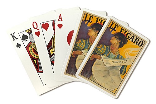 le-figaro-vintage-poster-artist-simonidy-france-c-1900-playing-card-deck-52-card-poker-size-with-jok