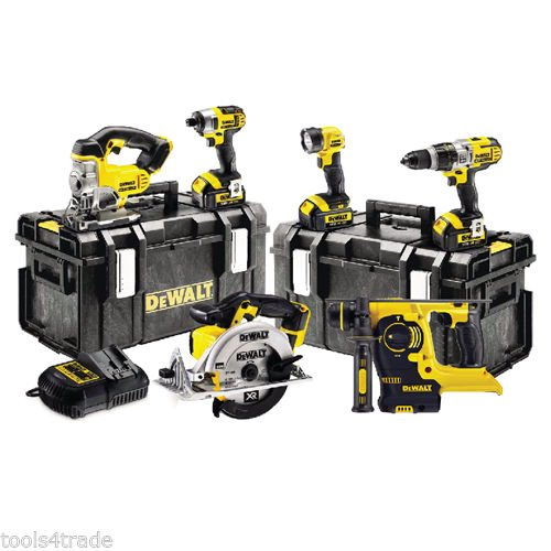 dewalt-18v-xr-li-ion-6-pcs-kit-3-x-4ah-batts-dcd785-dcf885-dcs331-dch253-dcs391