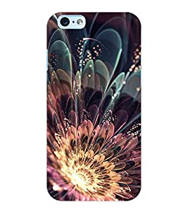 ColourCraft Beautiful Flower Design Back Case Cover for APPLE IPHONE 6