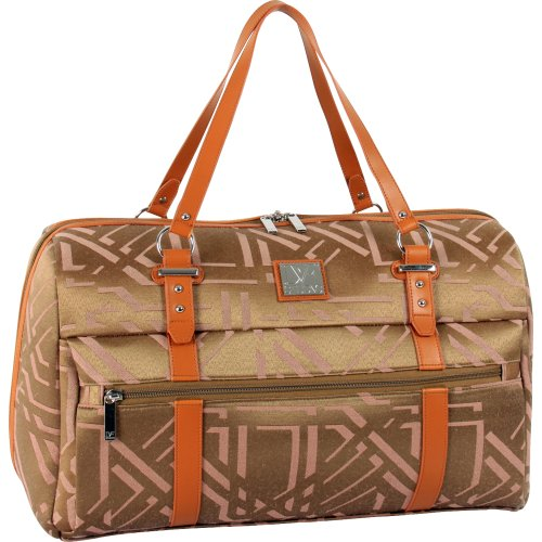 Diane Von Furstenberg Luggage Modern Tile 19 Inch Overnight Bag, Khaki, One Size