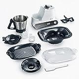 Severin KM 3895 James the Wondermachine All-in-one Küchenmaschine mit Kochfunktion (1050 Watt, 11 Funktionen) schwarz / weiß -