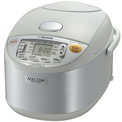 Zojirushi NS-YAC10 Umami Micom Rice Cooker and Warmer (Pearl White, 5.5 Cup Capacity) Bundle with Tools and Two Cookbooks (Zojirushi Soup Pot compare prices)