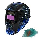 Yorbay® Solar Automatisch verdunkelnd Schweißhelm Schweißmaske mit 5 Stück Ersatzgläser