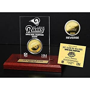 Highland Mint St. Louis Rams Super Bowl Champions Etched Acrylic Plaque by Highland Mint