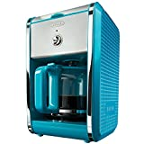 BELLA 13737 Dots Collection 12-Cup Coffee Maker, Teal