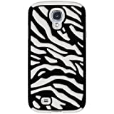 EFuture(TM) White/Black Stylish Zebra Combo PC and Silicone Hybrid Case Cover Fit for Samsung Galaxy SIV/S4 i9500 +eFuture's nice Keyring