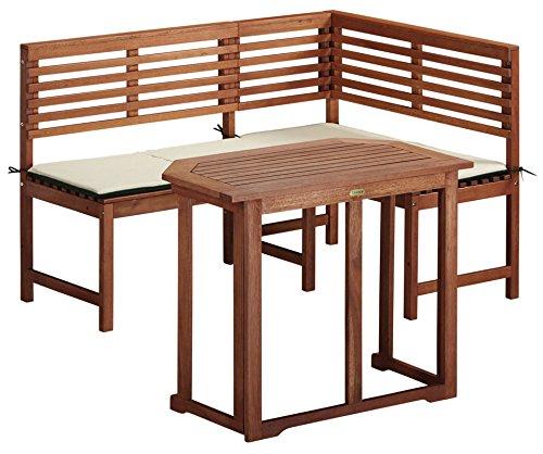 baumarkt direkt 5tlg. Balkonset Eckbank mit Tisch braun jetzt kaufen