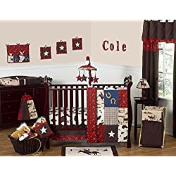 Sweet Jojo Designs Wild West Western Horse Cowboy Baby Boy Bedding 11pc Crib Set without bumper
