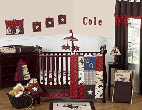Sweet Jojo Designs Wild West Western Horse Cowboy Baby Boy Bedding 11pc Crib Set without bumper