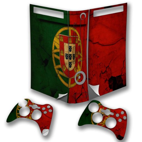 Flags Portugal 2, Snuggle Edition, Sticker For Xbox 360 Fat Game Console.