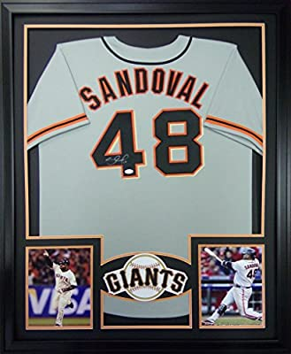 Pablo Sandoval Framed Jersey Signed PSA/DNA COA Autographed San Francisco Giants