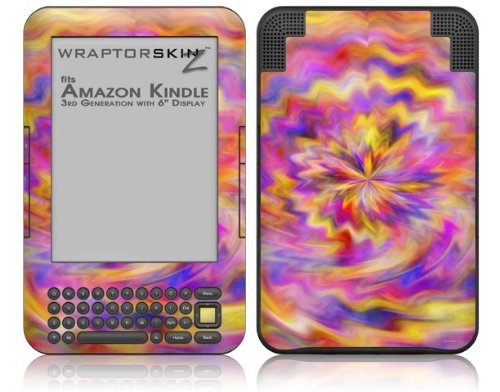 Skin for Amazon Kindle 3 (with 6 inch display) - Tie Dye Pastel by WraptorSkinz